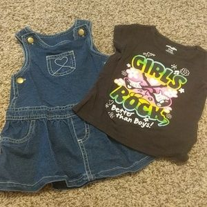 Other - Baby girl t-shirt and jean dress